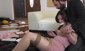 Dirty policewoman anal fucked gagged victim