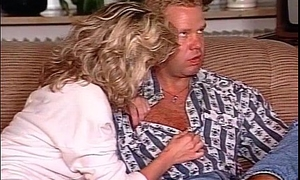 Horny blonde MILF gets her tight beaver