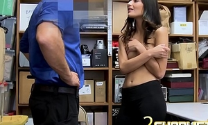 Emily Willis plays shy with mall constable
