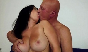 Claudia'_s chunky tits drive an old man risible
