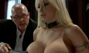 Giving hooters blondie gangbanged s&m
