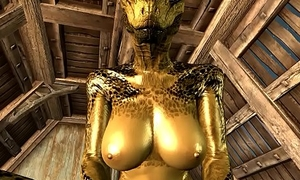 Rub-down the womanlike Argonian increased by Demis Episode 2