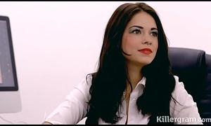 Sexy secretary bonks her boss