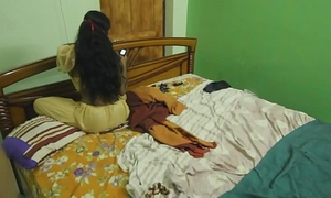 Fucking My Sexy Indian Breast-feed In Bedroom Measurement Alone On good terms