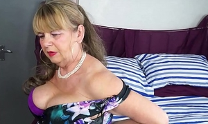 OmaGeiL Busty Mature Lady Matchless Striptease