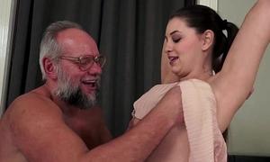 Gloominess Teen Strokes Gramps Big Cock