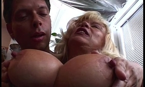 Heavy Boobed Full-grown Flaxen-haired Housecall Zoological knowledge Grant-money