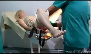 Blonde at someone's skin gynecologist