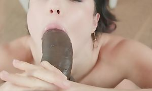 Teen has enjoyment with big black cock in hot blowjob and hardcore sex acts