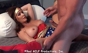 Horny Wonder Skirt is warped to fuck a muscled guy, even though he might be a baddy