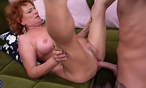 Cock Loving Granny With White-hot Hair, Sally G Is Using Her Deep Throat To Please Younger Guys