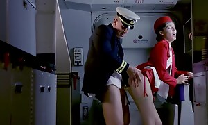 Rhiannon Ryder - Beauty Stewardess Via The Flight, Gets Fucked With The In reserve Pilot