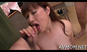 Peachy milf can't agree to without riding dongs