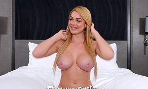 MyVeryFirstTime - Skyla Novea takes four dick for the first grow experienced in threesome